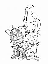 Jimmy Neutron Coloring Pages Printable Adults sketch template