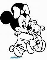 Coloring Pages Disney Mouse Minnie Characters Mickey Cartoon sketch template