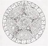 Pentagram Pentacle Coloring Celtic Pagan Google Drawings Zoeken Woodburning sketch template