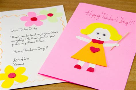 make a s day card how to make a homemade teacher s day card 7 steps with pictures