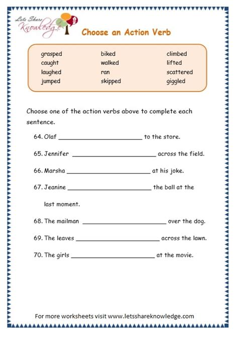 verbs worksheets grade 2 worksheets for all and