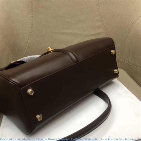discount medium bag in brown satinated calfskin pittsburgh pa tote bag brown
