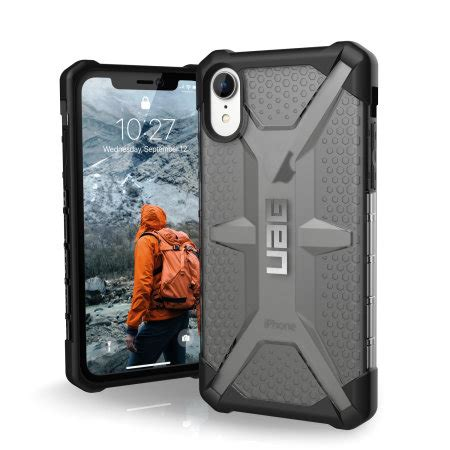 uag plasma iphone xr protective case ash