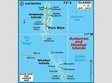 Map of Andaman & Nicobar Islands Asian Maps, Asia Maps