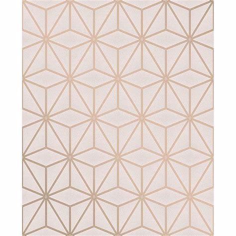 augustin rose gold geometric wallpaper  advantage