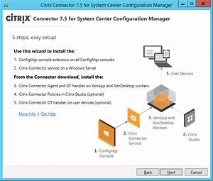 Citrix Connector 7 5 For Configmgr 2012 Sp1  R2 Released