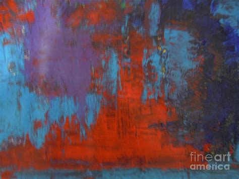 Abstract Sun Moon Painting by Lam Lam