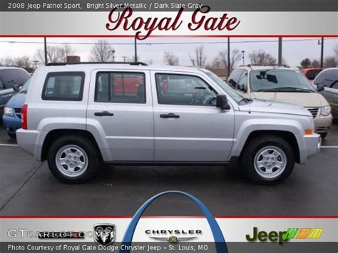 silver jeep patriot interior bright silver metallic 2008 jeep patriot sport dark