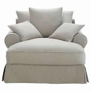 Méridienne Maison Du Monde : m ridienne en coton gris clair bastide maisons du monde ~ Melissatoandfro.com Idées de Décoration