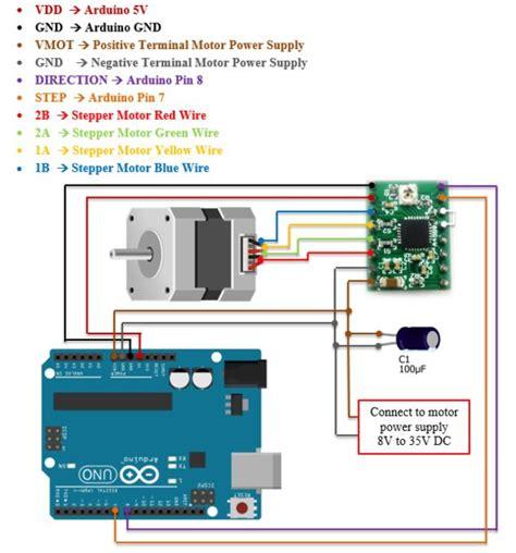 interface stepper motor  arduino  stepper motor driver