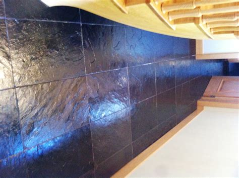removing grout haze from slate tile flooring