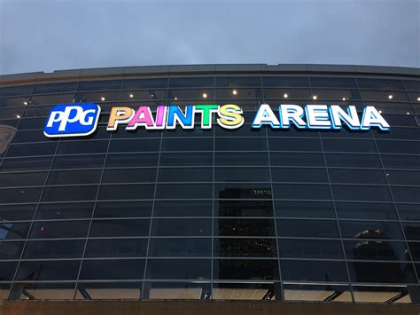 PPG Paints Arena Gets New Exterior Signage, Including ...