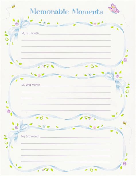 Baby Memory Book Loos Leaf Pages Baby Memory Book