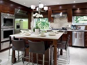 cuisine bois avec ilot central blanc ideeco With idee cuisine avec ilot central