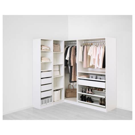 Corner Wardrobe Unit by Ikea Pax White Add On Corner Unit With 4 Shelves Frame