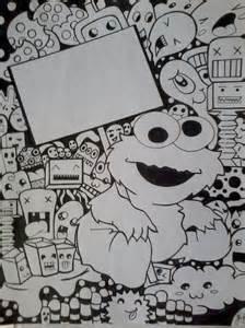 Cute Cookie Monster Doodle