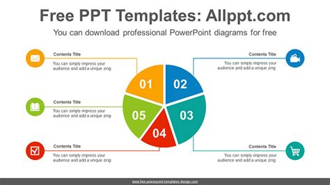 split pie chart powerpoint diagram template
