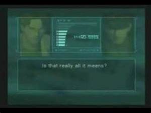 Metal Gear Solid 2: Sons of Liberty - Otacon Save Quotes ...