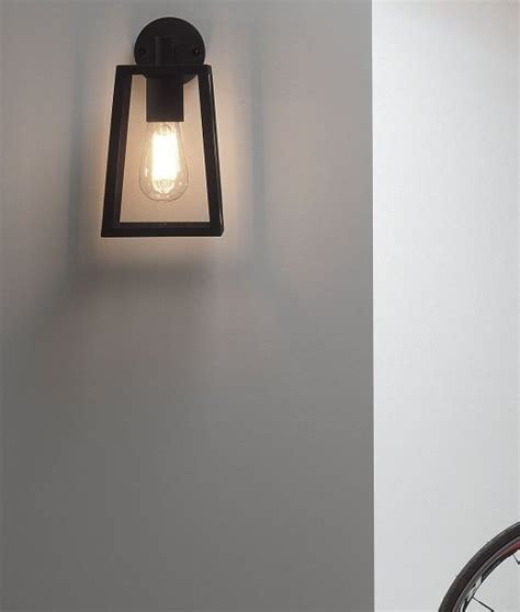 exterior clear glass wall lantern h 280mm