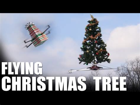 flying christmas tree the awesomer
