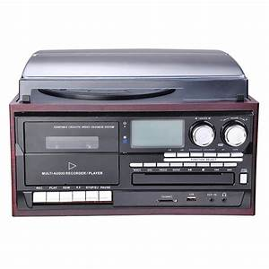 Radio Cd Kassette : bluetooth stereo record player system with speakers ~ Jslefanu.com Haus und Dekorationen