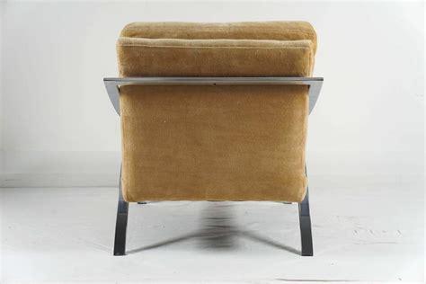 Single Chrome Baughman Armchair For Sale At 1stdibs