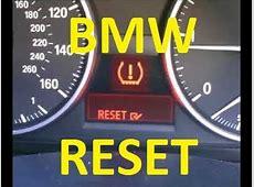 BMW Tire Pressure Warning Light Reset YouTube