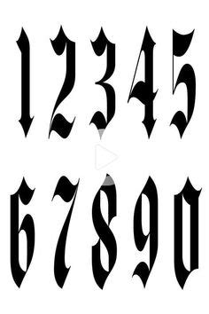 Gorgeous gothicized numbers! | Tattoo lettering fonts