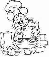 Coloring Pages Cooking Mickey Chef Mouse Baking Colouring Kitchen Printable Drawing Para Colorir Bake Adult Sheets Books Clipart Coloringhome Paginas sketch template