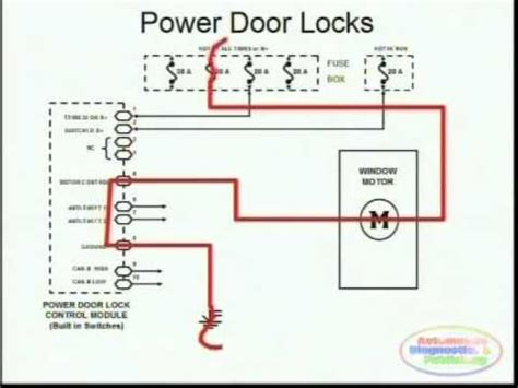 Power Door Locks Wiring Diagram Youtube