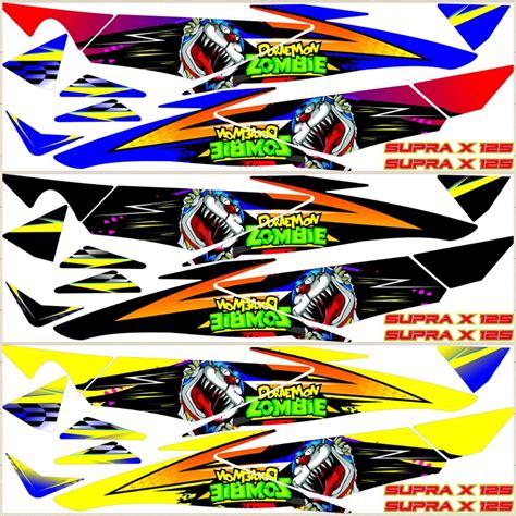 Variasi Motor Supra X 125 by Jual Striping Sticker Stiker Lis Variasi Honda Supra X 125