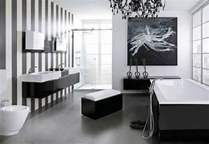 Déco Salle De Bain Noir Et Blanc : la d coration noir et blanc vous surprenda avec style et chic ~ Melissatoandfro.com Idées de Décoration