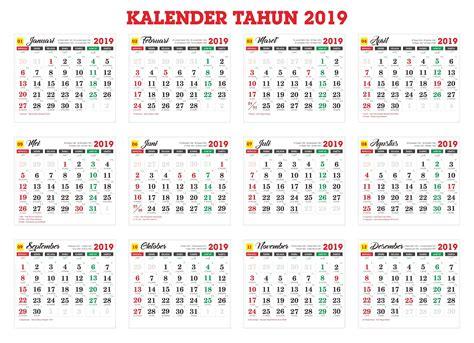 Master Kalender Tahun 2019 Cdr