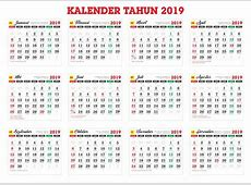 Download master kalender tahunan Tahun 2019 cdr Download