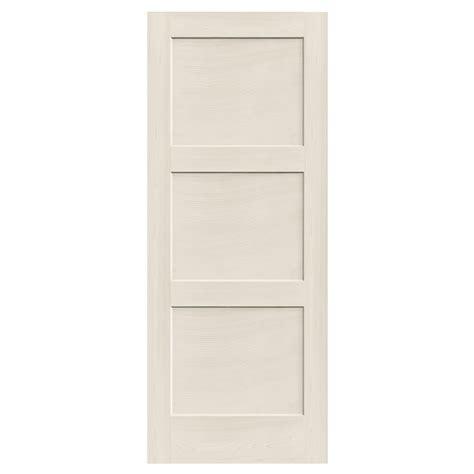 reliabilt 910129 3 panel solid wood interior slab door