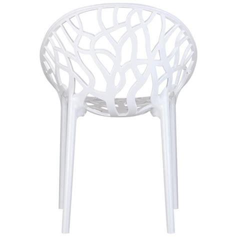Chaise Moderne 'geo' Blanche En Polycarbonate Achat