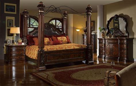 mcferran castellino leather poster bedroom set