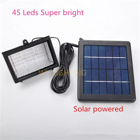 45led solar powered flood light bright 3w solar led