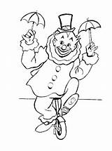 Coloring Clown Unicycle Pages Riding Circus Clowns Colorluna Colouring Embroidery Carnival Google Sheets Adult sketch template