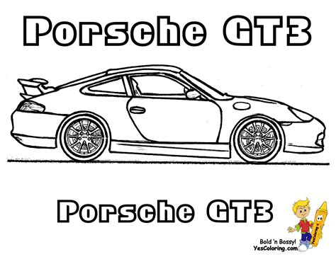 Porsche 911 Turbo Coloring Pages Coloring Pages