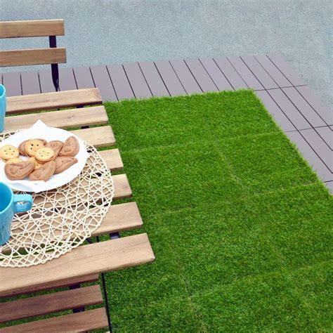 prato sintetico per terrazzo erba sintetica a piastrelle per prato realistico modulplate