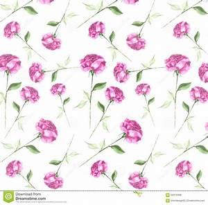Elegant Fresh Watercolor Abstract Rose Flower Art Seamless ...
