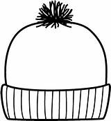 Hat Winter Clip Coloring Words Pages Template Clipart Wikiclipart Crafts Pirate Related sketch template