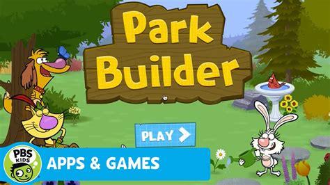 apps games park builder pbs kids youtube