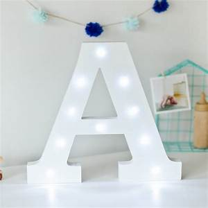 White light up letters by letteroom notonthehighstreet