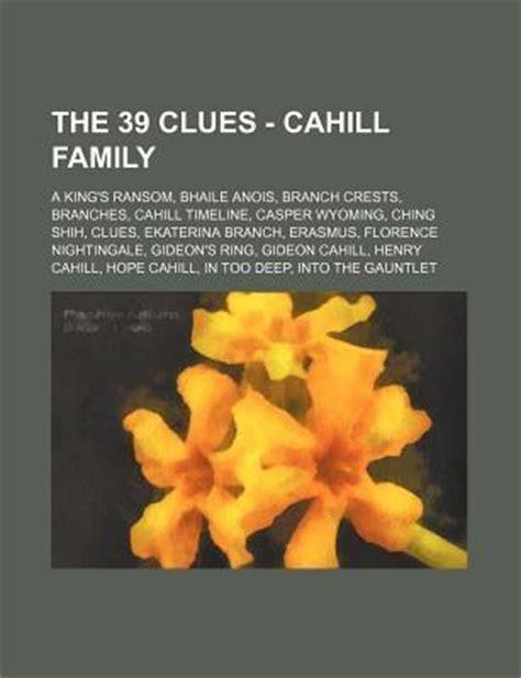clues cahill family  kings ransom bhaile