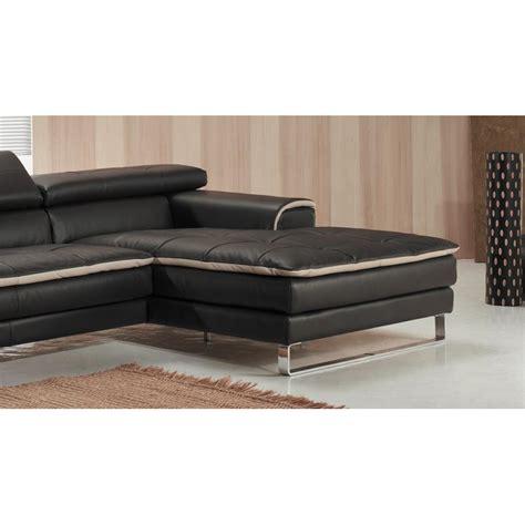canapé d angle italien canapé d 39 angle chaise longue en cuir haut de gamme italien
