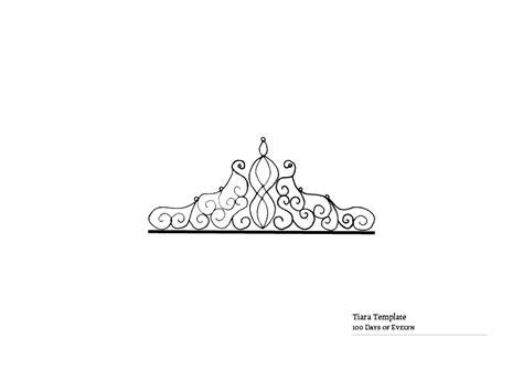 tiara template templates 100 days of