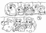 Coloring Tunnel Hamtaro Pages Coloringpages101 464px 57kb sketch template
