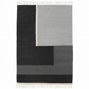 arte tapis antidrapant living mats spirale gris fonc urban With ferm living tapis